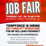 BR Williams Piedmont Warehouse Job Fair with TempForce of Anniston
